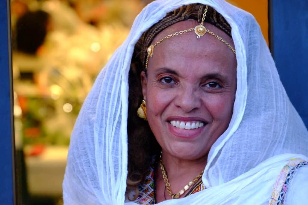 Eritrean woman at a wedding
