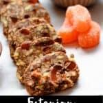 Chocolate and Orange Candy Pinterest Image bottom black banner