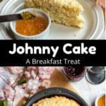 Johnny Cake: A Breakfast Treat Pinterest Image Middle black banner