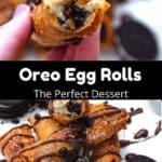 Valentine's Day Oreo Egg Rolls Pinterest Image middle black banner