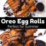 Summertime Oreo Egg Rolls middle black banner