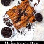 Valentine's Day Oreo Egg Rolls Pinterest Image bottom black banner