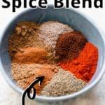 Baharat Spice Blend Pinterest Image top outlined title