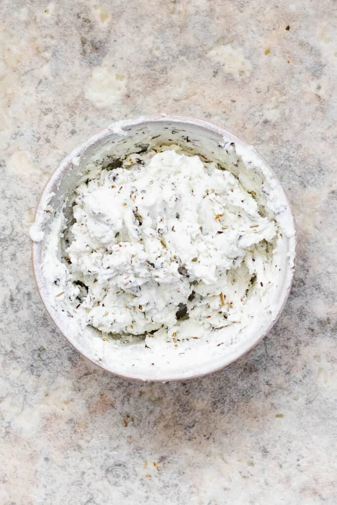 Goat cheese mixed with herbs de provence