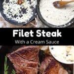 Cast Iron Filet Steak Pinterest Image middle black banner