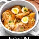 Instant Pot Chicken Stew Pinterest Image bottom black banner