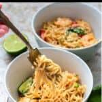 Instant Pot Shrimp Ramen Noodles Pinterest Image top black banner