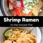 Instant Pot Ramen Noodles Pinterest Image middle black banner