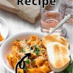 How to Make Vodka Sauce Pinterest Image top outlined title