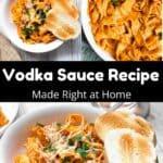 How to Make Vodka Sauce Pinterest Image middle black banner