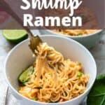 Instant Pot Shrimp Ramen Noodles Pinterest Image top design banner