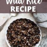 Instant Pot Wild Rice Pinterest Image top design banner