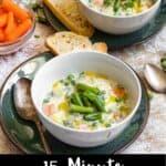 Vegetable Soup Pinterest Image bottom black banner