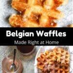 Belgian Waffles Pinterest Image middle black banner