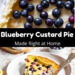 Blueberry Custard Pie Pinterest Image middle black banner