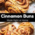 Cinnamon Buns Pinterest Image middle black banner