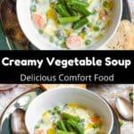 Vegetable Soup Pinterest Image middle black banner