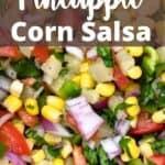 Easy Pineapple Corn Salsa Pinterest Image top design banner