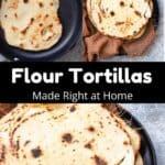 Flour Tortillas Pinterest Image middle black banner