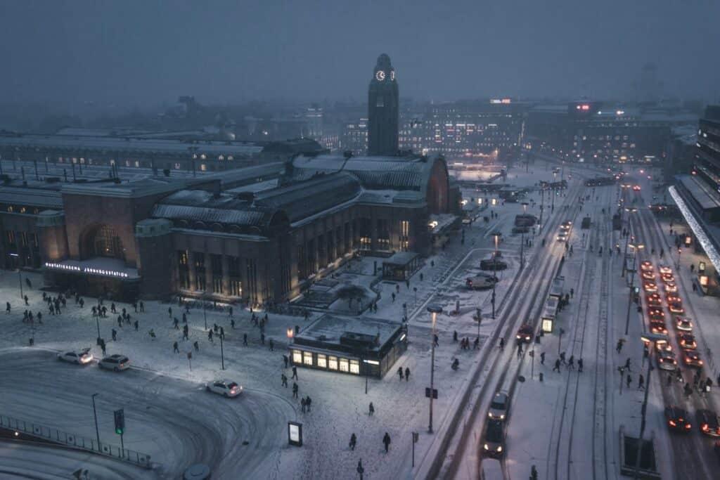 Helsinki in the winter