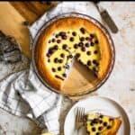 Blueberry Custard Pie Pinterest Image top black banner
