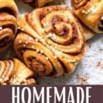 Homemade Cinnamon Buns Pinterest Image bottom design banner