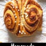 Cinnamon Buns Pinterest Image bottom black banner