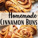 Homemade Cinnamon Buns Pinterest Image middle design banner