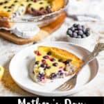 Blueberry Custard Pie Pinterest Image bottom black banner