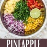 Easy Pineapple Corn Salsa Pinterest Image bottom design banner