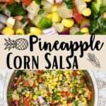 Easy Pineapple Corn Salsa Pinterest Image middle design banner