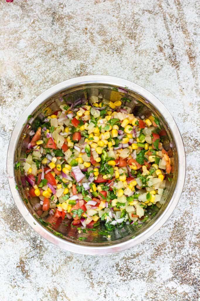 Pineapple corn salsa
