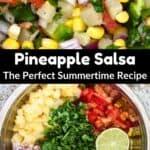 Summertime Pineapple Salsa Pinterest Image middle black banner