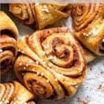 Homemade Cinnamon Buns Pinterest Image top clear banner