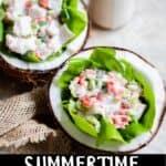 Summertime Fish Ceviche Recipe Pinterest Image bottom black banner