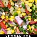 Summertime Pineapple Salsa Pinterest Image bottom black banner