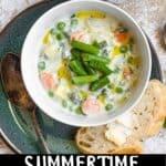 Summertime Vegetable Soup Pinterest Image bottom black banner