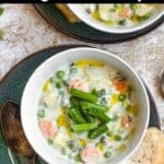 Summertime Vegetable Soup Pinterest Image top black banner