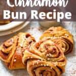Homemade Cinnamon Buns Pinterest Image top design banner