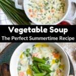 Summertime Vegetable Soup Pinterest Image middle black banner