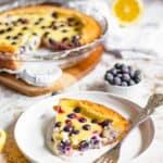 Blueberry Custard Pie (Mustikkapiirakka from Finland)
