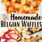 Homemade Belgian Waffles Pinterest Image middle design banner