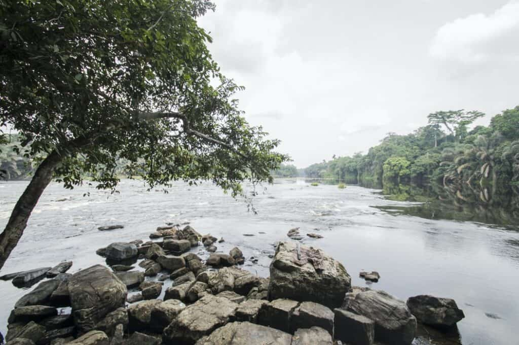 Water and rocks in Gabon
