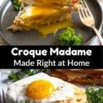 Croque Madame Sandwich Pinterest Image middle black banner