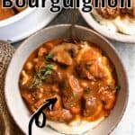 Beef Bourguignon Pinterest Image top outlined title