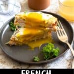 Croque Madame Sandwich Pinterest Image bottom black banner