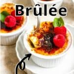 Creme Brulee Pinterest Image top outlined title