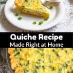 Homemade Quiche Recipe middle black banner