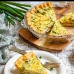 Homemade Ham and Cheese Quiche Pinterest Image new top black banner