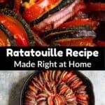 Ratatouille Recipe Pinterest Image middle black banner